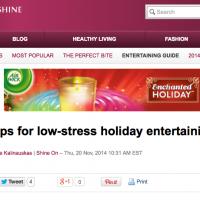 Yahoo! Canada Low-Stress Holiday Entertaining